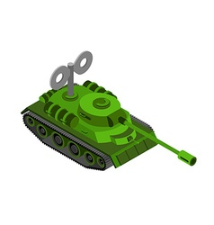 Toy Tank Isometric on white background Military vector image vector image