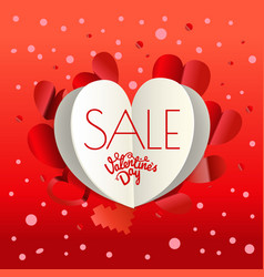 Valentines day sale special offer banner poster vector
