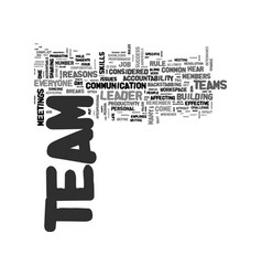 When teams don t work major reasons text word vector