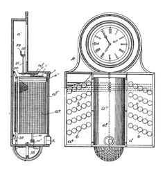 Workman time recorder vintage vector