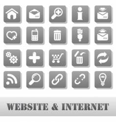 Internet and website vector