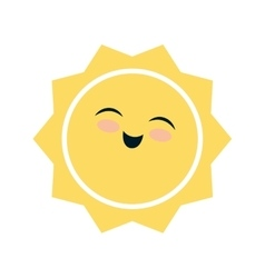 sun face weather season icon graphic vector image