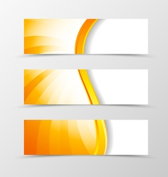 Set of header banner dynamic wave design vector