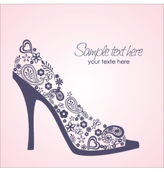 shoes card vector image