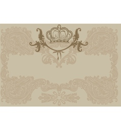 Vintage ornate royal brown background vector