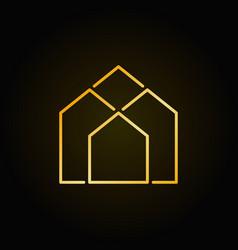 Real estate golden icon vector