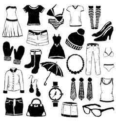 Doodle fashion images vector