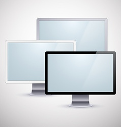 Set of modern lcd vector