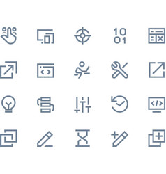 Developer icons line series vector