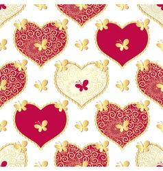 Valentine seamless white pattern vector
