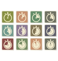 Timer icon set vector