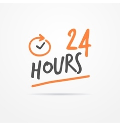 Twenty four hours label vector