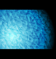 abstract blue technology polygonal background vector image