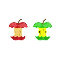 Apple stub waste vector