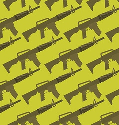 Automatic gun seamless pattern Military background vector image vector image