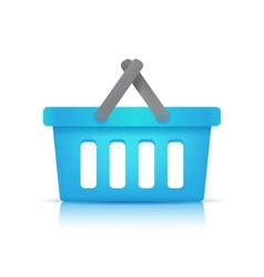 blue shopping cart vector image
