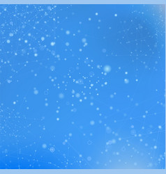 Blue technology background with particle vector