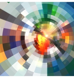 Bright abstract shining circle tiles background vector image vector image