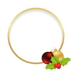 christmas golden frame vector image