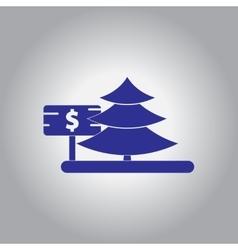 Christmas tree for sale vector