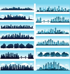 City skylines panoramic vector image vector image