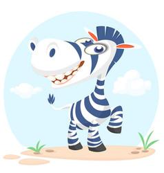 cute cartoon zebra character vector image vector image