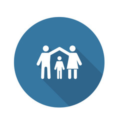 Family insurance icon flat design vector