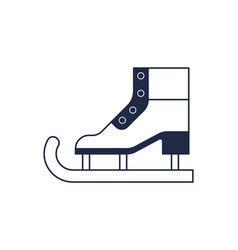 Figure ice skate isolated icon vector