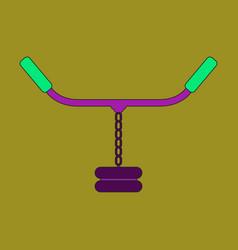 flat icon on stylish background sports simulator vector image