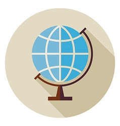 Flat Science and Education Geography World Globe vector image vector image