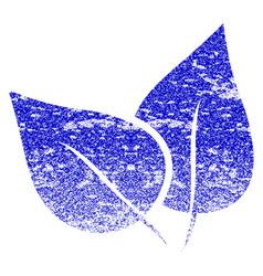 Flora plant grunge textured icon vector