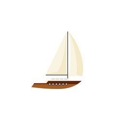 Isolated sailboat flat icon yacht element vector