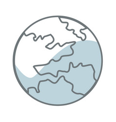 map global world earth round icon vector image vector image