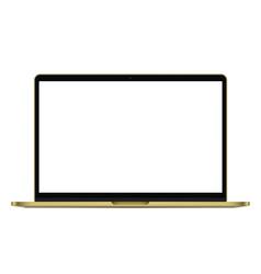 modern rich golden ultrabook notebook laptop vector image vector image