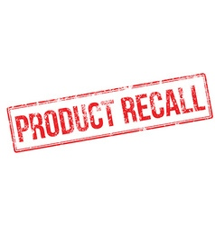 Product recall red rubber stamp vector