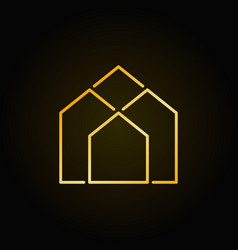 Real estate golden icon vector