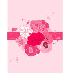 romantic floral card vector image