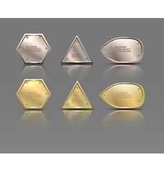 set of metal banners vector image vector image