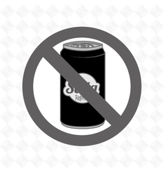 Soda fast food unhealth prohibited vector