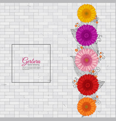 Summer background with gerbera vector
