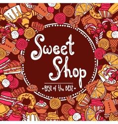 Sweet shop background vector