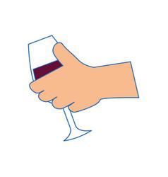 wine drink cup vector image