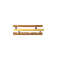 Wooden construction icon in flat style vector