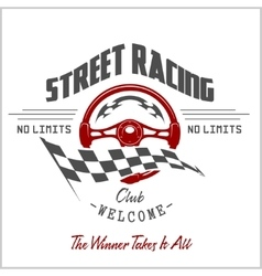Street racing club badge and design elements vector