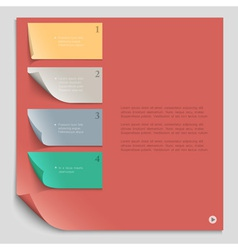 Paper design template for website layout vector