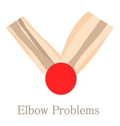 Elbow problem icon cartoon style vector