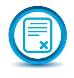 Blue bad document icon vector