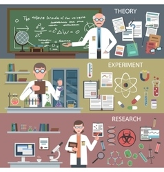 Science Banner Set vector image
