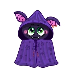 Bat on halloween vector