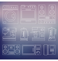 Icons of home appliances vector